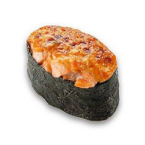 Запеченый гункан с лососем, СушиМания
