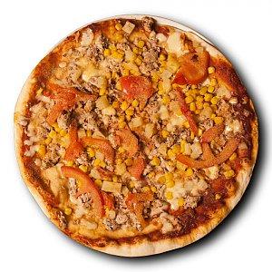 Пицца Нежная с семгой и креветками, Pizza Sole Mio