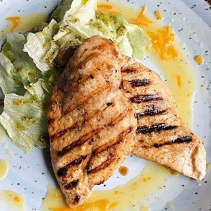 Филе цыпленка в апельсиновом соусе, Албена