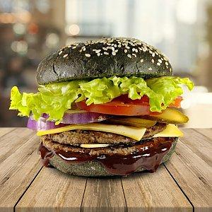 Black Бургер с двойной говяжьей котлетой, ДымОК