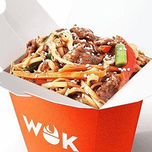 Говядина в азиатском чили с яичной лапшой, WOK - Минск