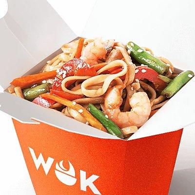 Заказать Морепродукты в азиатском чили с яичной лапшой, WOK