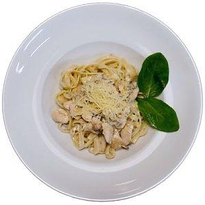 Паста Феттучини с цыпленком и грибами, MARTIN PIZZA