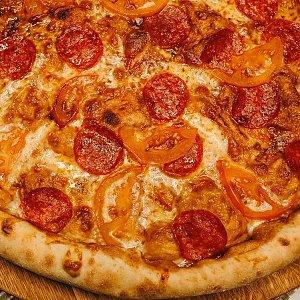 Пицца Колбаски на томатах 36см, MARTIN PIZZA + SUSHI