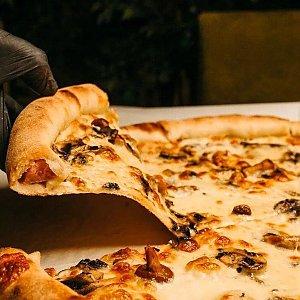 Мега Пицца Грибная на сметанном соусе 48см, MARTIN PIZZA + SUSHI