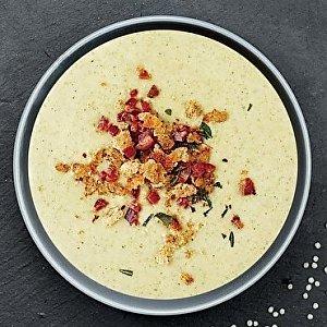 Крем-суп из цукини, с беконом и хрустящим луком, Буфет - Бобруйск