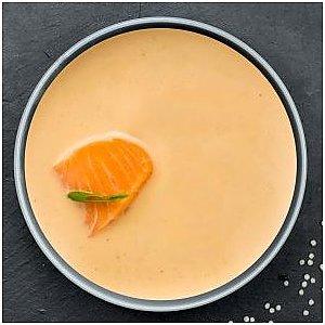 Крем-суп с лососем и сухариками, Буфет - Бобруйск