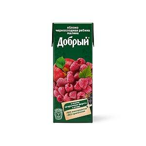 Нектар Добрый малина, чпд рябина, яблоко 0.2 л, Буфет