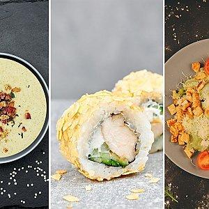 Роллы + Салат с фунчозой (вторник), Буфет