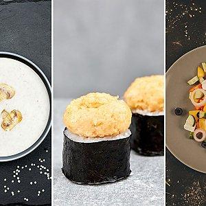 Роллы + Салат с фунчозой + Суп Рамен (вторник), Буфет