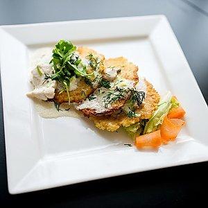 Драники с куриным филе и луком, Martin Cafe