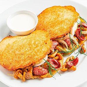 Картофан с опятами и охотничьими колбасками, Pizza Smile - Брест