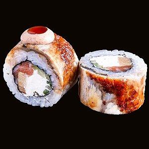 Ролл с угрем, лососем и омлетом, CAFE GARAGE - Гомель