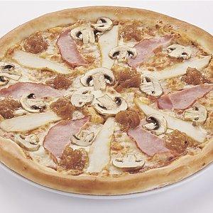 """Пицца """"С ветчиной и грибами"""" детская (26см), Pizza Smile - Светлогорск"""