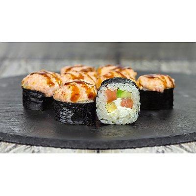 Заказать Ролл запеченный с лососем и авокадо, Япончик