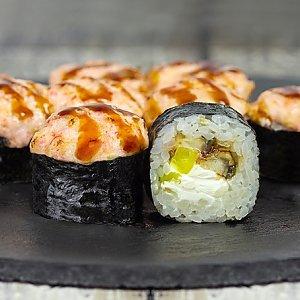 Ролл запеченный с угрем и такуаном, Япончик