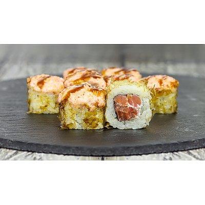 Заказать Ролл запеченный с копчёным лососем и помидорами, Япончик