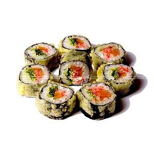 Горячий ролл с лососем и чукой, Япончик
