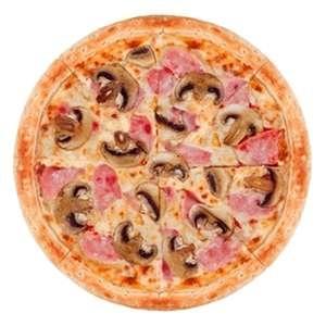 Пицца Ветчина и грибы 40см, РАЗ ДВА ПИЦЦА