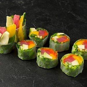 Спринг ролл с тунцом, Fusion Food
