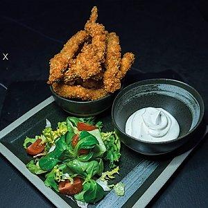 Курица с пряным соусом в панировке, Black Fox Bar - Барановичи