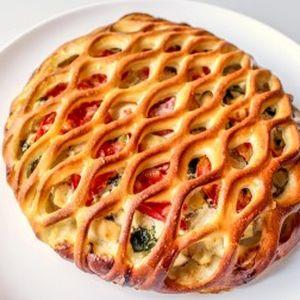 Пирог с курицей, шпинатом и помидорами, Штрудель