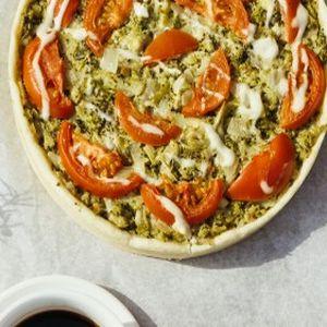 Пирог песочный с брокколи и помидорами, Штрудель