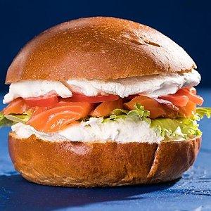 Фишбургер с лососем, Progresso