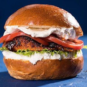 Фишбургер с лососем терияки, Progresso