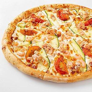 Пицца Калифорния с копченым лососем и креветками Мега 43см, CAFE GARAGE - Витебск