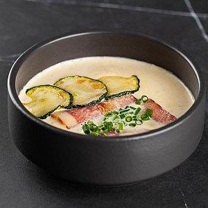 Крем-суп из цуккини с беконом, SUSHI SHOP