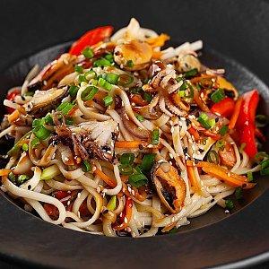 Китайская лапша WOK с морепродуктами, SUSHI SHOP