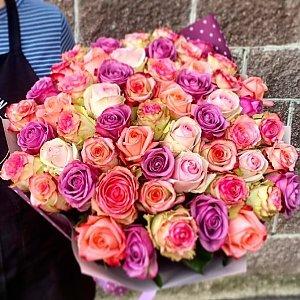 Букет из 55 цветных роз, Lotus Flower