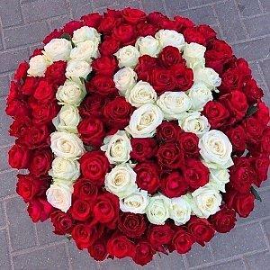 Букет из 101 розы с цифрами, Lotus Flower