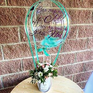 Цветочная композиция с шаром и печатью, Lotus Flower
