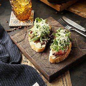 Брускетта с говядиной, грибами и сельдереем , Te Amo