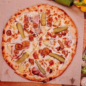 Пицца Опята и бекон 30см, ОБЛАКО