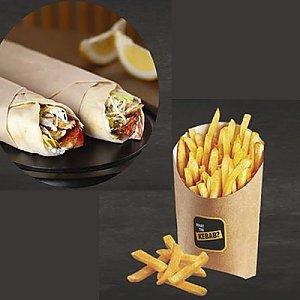 Акция 2 Кебаба М + картофель Фри, What The Kebab