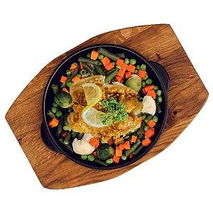 Рыба в тесте с овощами, Карлион