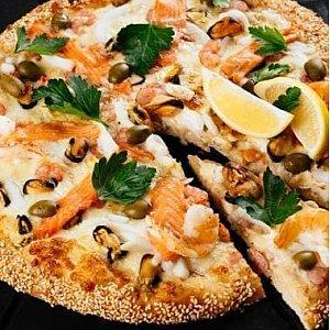 Пицца с морской начинкой 41см, Суши Пицца Маркет - Витебск