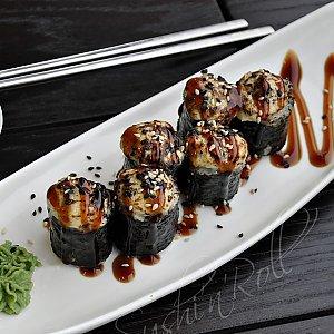 Запеченный ролл Вулкан с грибами, Sushi n Roll