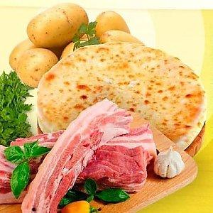 Пирог осетинский с картошкой и грудинкой (300г), L абрус (Лабрус)