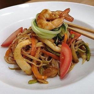 Сифудо с яичной лапшой, ASIAN FOOD