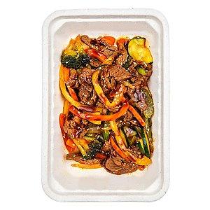 Овощи в воке с говядиной, КАРАФУТО