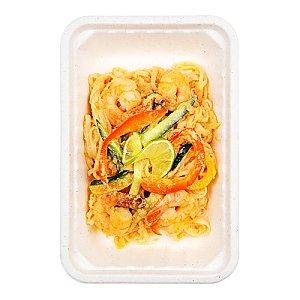 Рисовая лапша с креветками и арахисовым соусом, КАРАФУТО