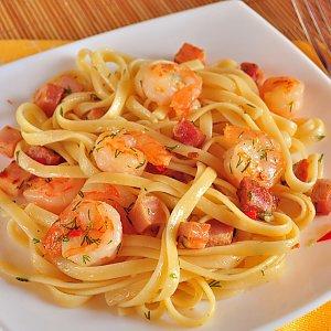 Спагетти с морепродуктами, Дом Папочки.by