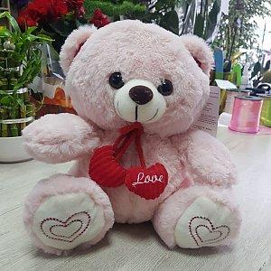 Медведь Розовый Love 30см, Цветы 24/7