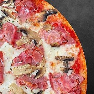 Пицца Ветчина и грибы 30см, Сытый Лев