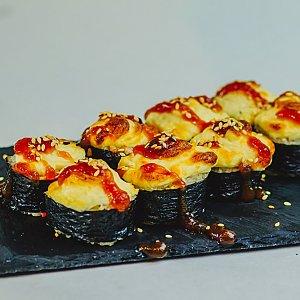 Запеченный ролл с лососем и снежным крабом, Pizza Smile - Брест