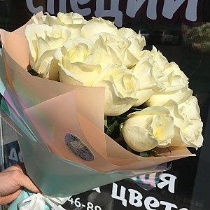 Букет из 25 сортовых роз в дизайнерской упаковке, FRESH FLOWERS